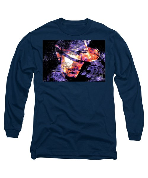 His Love Song  Long Sleeve T-Shirt by Annie Zeno