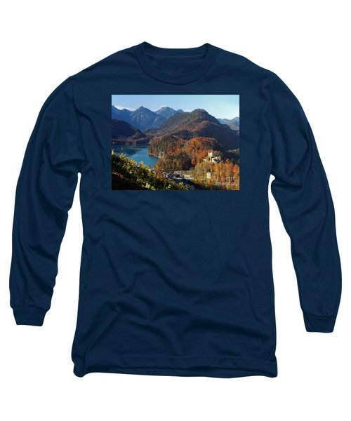 Hohenschwangau Castle And Alpsee In Bavaria Long Sleeve T-Shirt