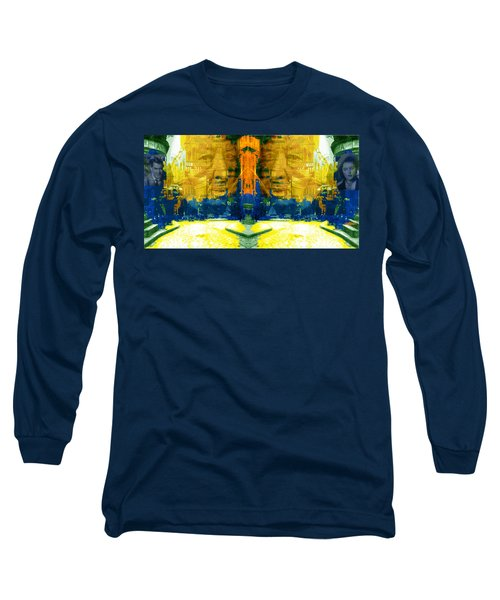 Homage To Sir Alfred Long Sleeve T-Shirt by Seth Weaver