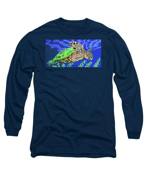 Honu Long Sleeve T-Shirt by Debbie Chamberlin