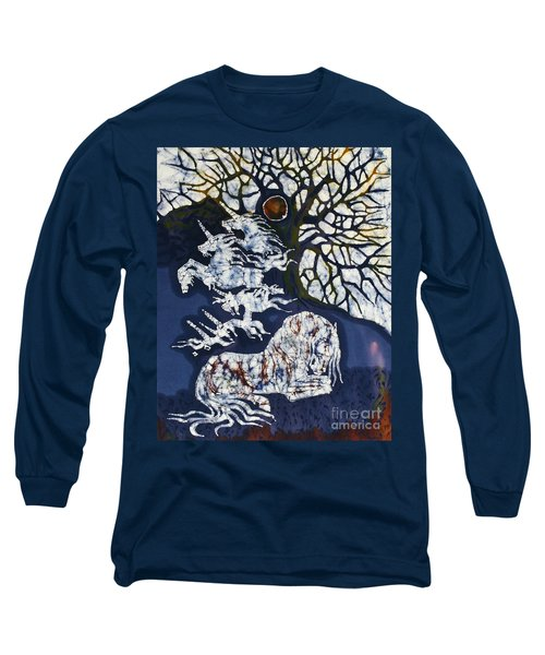Horse Dreaming Below Trees Long Sleeve T-Shirt