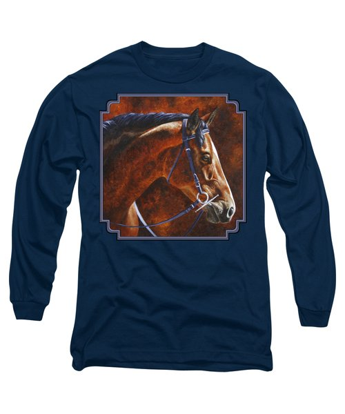Horse Painting - Ziggy Long Sleeve T-Shirt by Crista Forest