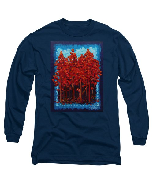 Long Sleeve T-Shirt featuring the painting Hot Reds by Holly Carmichael
