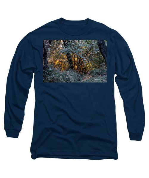 Long Sleeve T-Shirt featuring the photograph Hot Sunset In The Forest by Arik Baltinester