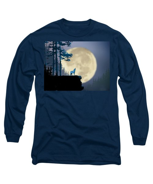Howling Coyote Long Sleeve T-Shirt