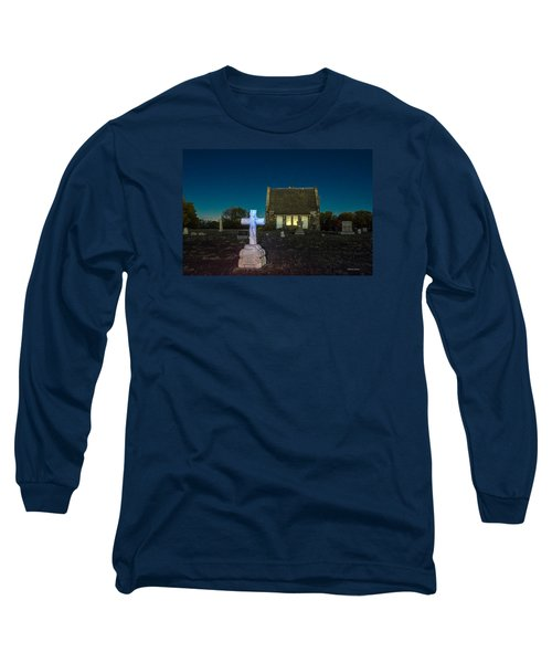 Hughes Children At Riverside Cemetery Long Sleeve T-Shirt by Stephen  Johnson