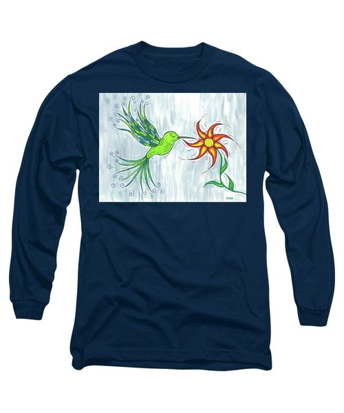 Hummingbird Floral Long Sleeve T-Shirt