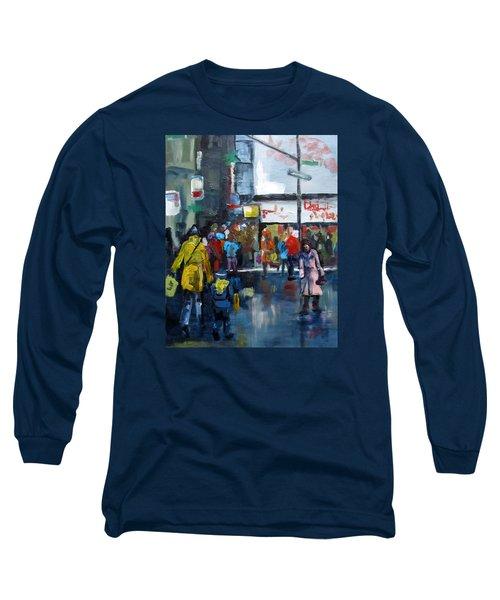 Hurry Long Sleeve T-Shirt by Barbara O'Toole