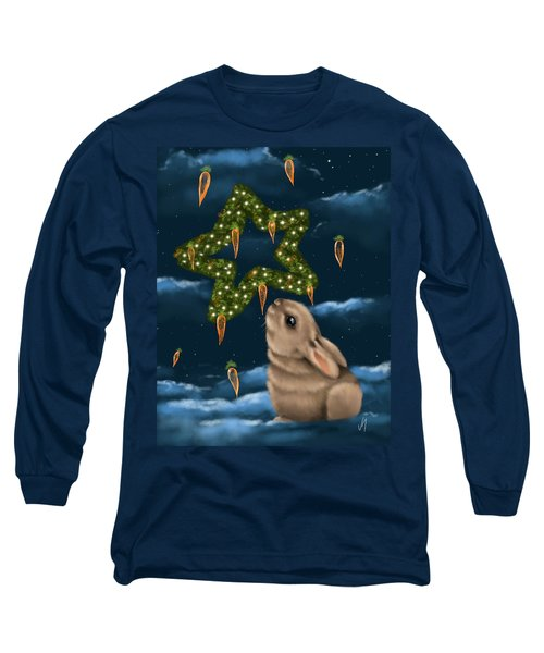 Long Sleeve T-Shirt featuring the painting I Can Smell The Christmas In The Air by Veronica Minozzi