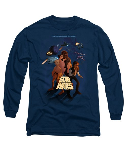 I Grew Up With Starwars Long Sleeve T-Shirt by Nelson Dedos  Garcia