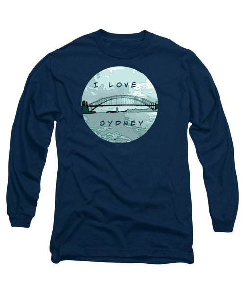 I Love Sydney Long Sleeve T-Shirt by Leanne Seymour