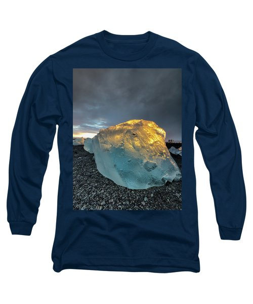 Ice Fish Long Sleeve T-Shirt by Allen Biedrzycki