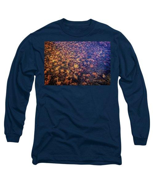 Ice On Oak Leaves Long Sleeve T-Shirt