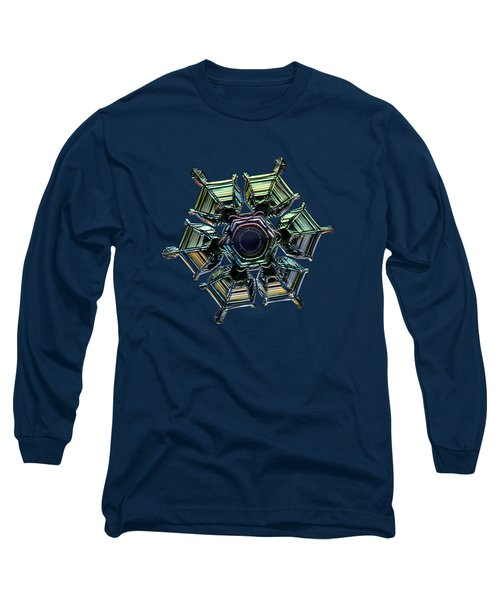 Long Sleeve T-Shirt featuring the photograph Ice Relief, Black Version by Alexey Kljatov