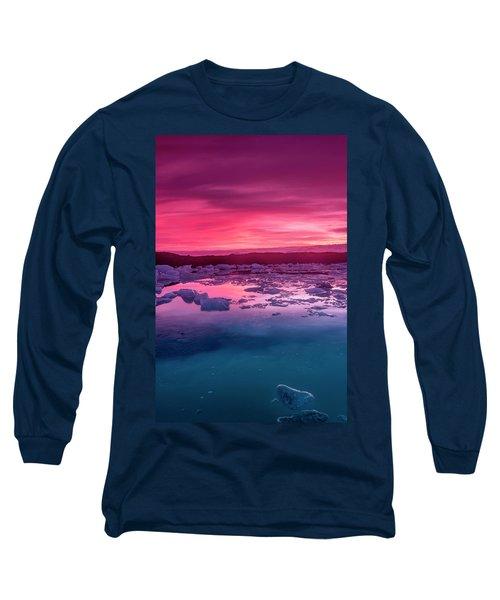 Iceberg In Jokulsarlon Glacial Lagoon Long Sleeve T-Shirt