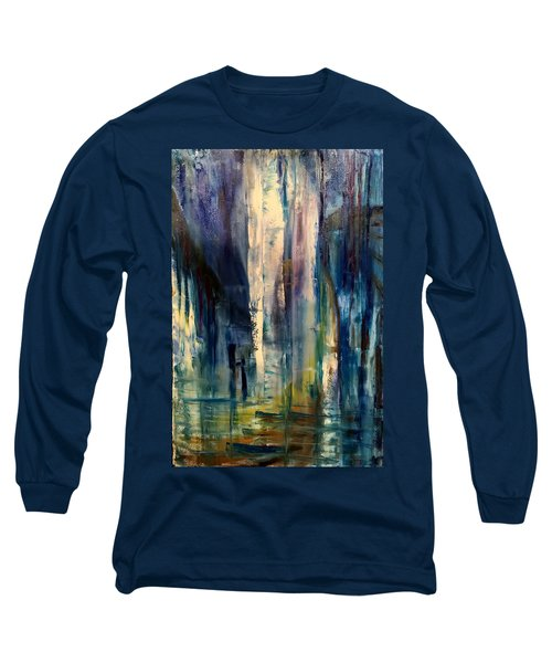 Icy Cavern Abstract Long Sleeve T-Shirt