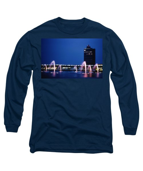 Long Sleeve T-Shirt featuring the photograph Idlewild Fountain And Tower by John Schneider