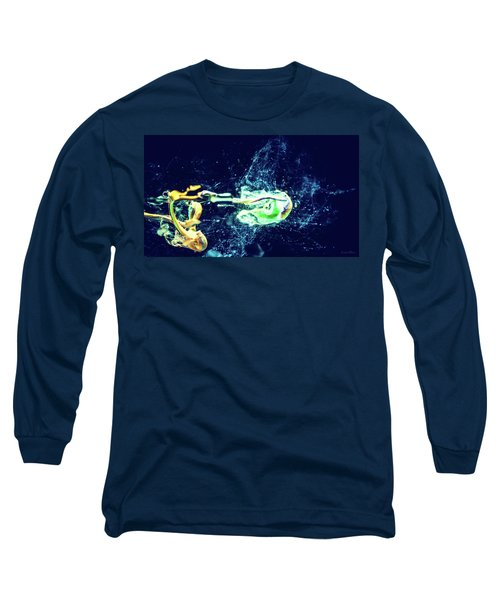 Impact - Pouring Photography Abstract Long Sleeve T-Shirt