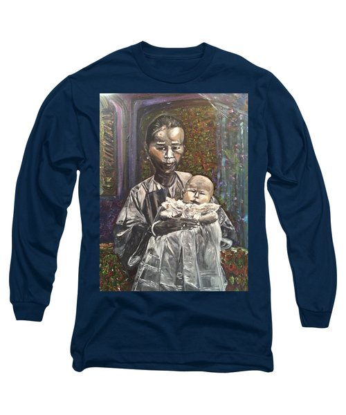 Long Sleeve T-Shirt featuring the painting In My Life by Belinda Low