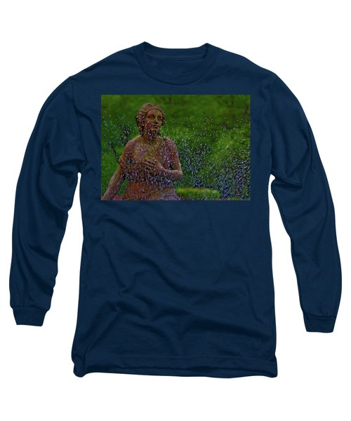 Long Sleeve T-Shirt featuring the photograph In The Garden by Rowana Ray