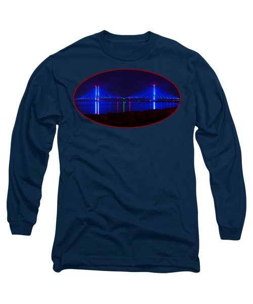 Indian River Inlet Bridge After Dark Long Sleeve T-Shirt