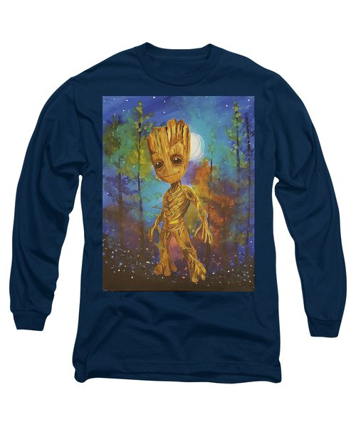 Into The Eyes Of Baby Groot Long Sleeve T-Shirt