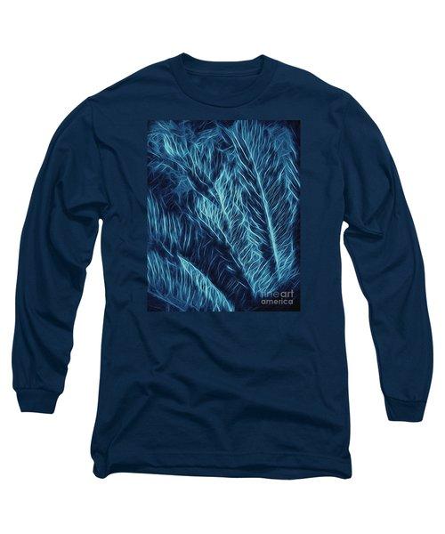Iridescent Fern In Oil Long Sleeve T-Shirt