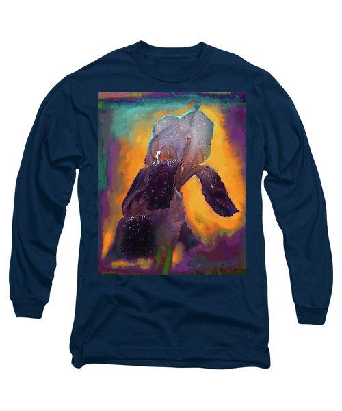 Long Sleeve T-Shirt featuring the photograph Iris In Purple by Jeff Burgess