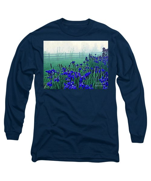 Irises At Dawn 3 Long Sleeve T-Shirt