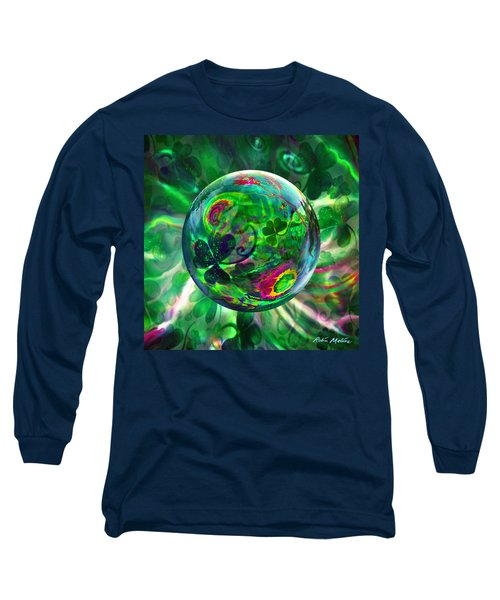 Long Sleeve T-Shirt featuring the painting Irish Charms by Robin Moline