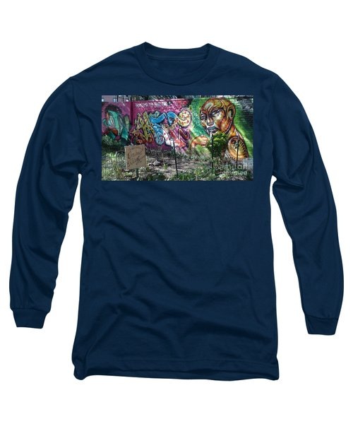 Long Sleeve T-Shirt featuring the photograph Isham Park Graffiti  by Cole Thompson
