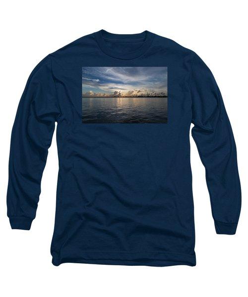 Island Horizon Long Sleeve T-Shirt by Christopher L Thomley