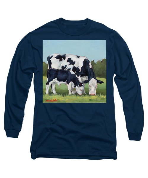 Ivory And Calf Mini Painting  Long Sleeve T-Shirt