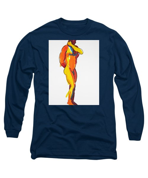 Long Sleeve T-Shirt featuring the painting James Classic Pose by Shungaboy X