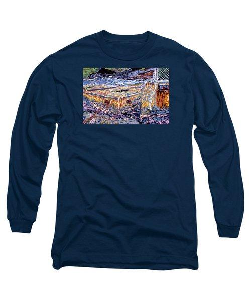 Jamestown Sea Construction Site Long Sleeve T-Shirt by Robert SORENSEN