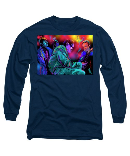 Jamming With Oscar Long Sleeve T-Shirt by DC Langer