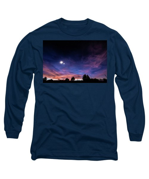 Long Sleeve T-Shirt featuring the photograph January 31, 2016 Sunset by Karen Slagle