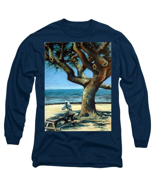 Long Sleeve T-Shirt featuring the painting January Afternoon by Suzanne McKee