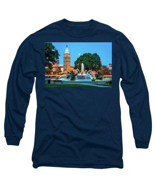 J.c. Nichols Memorial Fountain Long Sleeve T-Shirt
