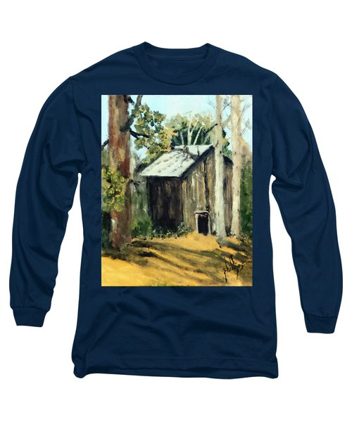 Long Sleeve T-Shirt featuring the painting Jd's Backker Barn by Jim Phillips