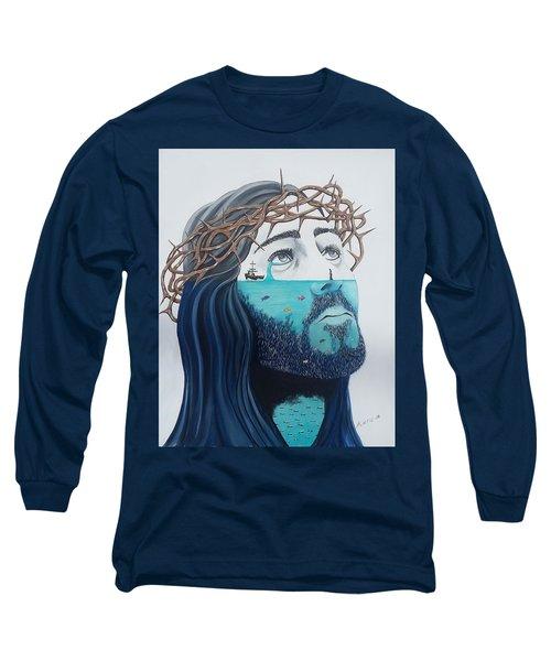 Jesus Walks On The Water Long Sleeve T-Shirt