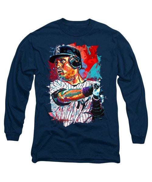 Jeter At Bat Long Sleeve T-Shirt