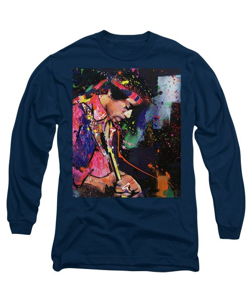 Jimi Hendrix II Long Sleeve T-Shirt by Richard Day