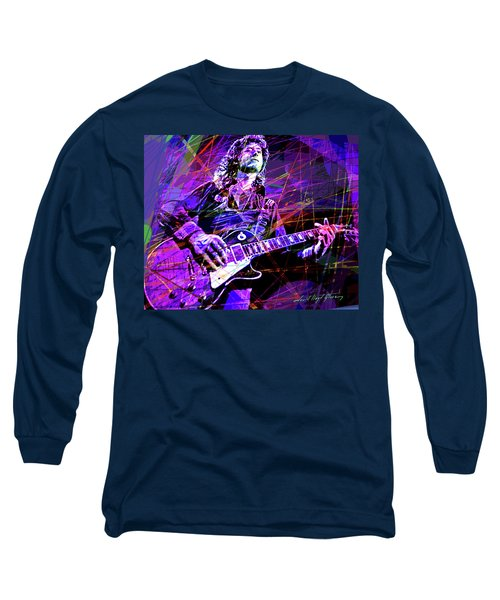 Jimmy Page Solos Long Sleeve T-Shirt by David Lloyd Glover