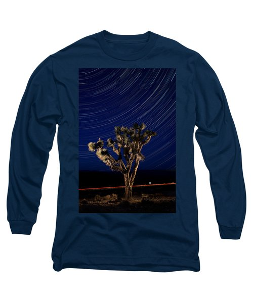 Joshua Tree And Star Trails Long Sleeve T-Shirt