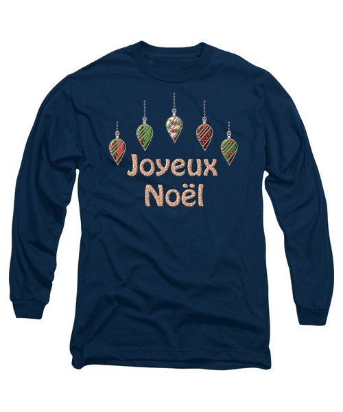 Joyeux Noel  French Merry Christmas Long Sleeve T-Shirt by Movie Poster Prints