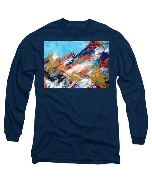 Judean Hill Abstract Long Sleeve T-Shirt by Esther Newman-Cohen