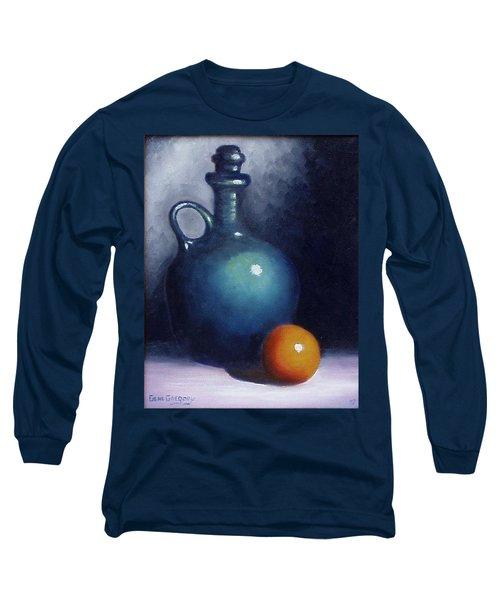 Jug And Orange. Long Sleeve T-Shirt by Gene Gregory