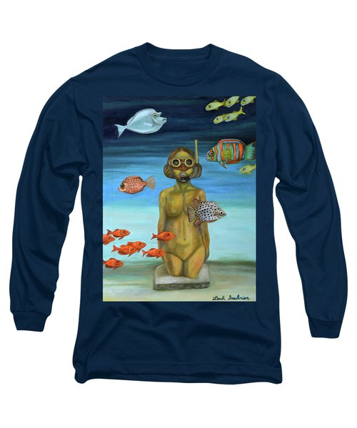 Long Sleeve T-Shirt featuring the painting Just Breathe by Leah Saulnier The Painting Maniac