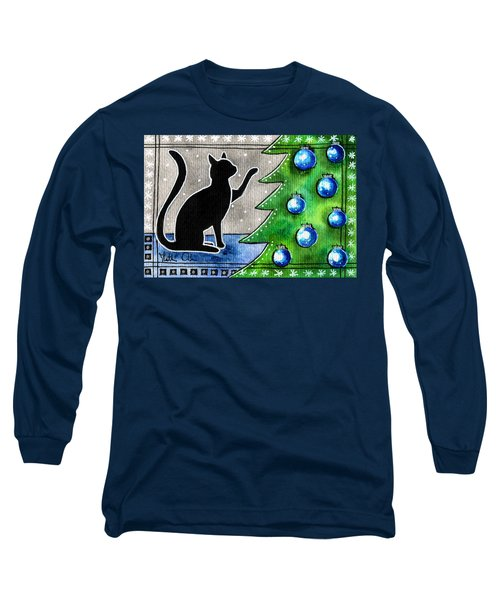 Just Counting Balls - Christmas Cat Long Sleeve T-Shirt